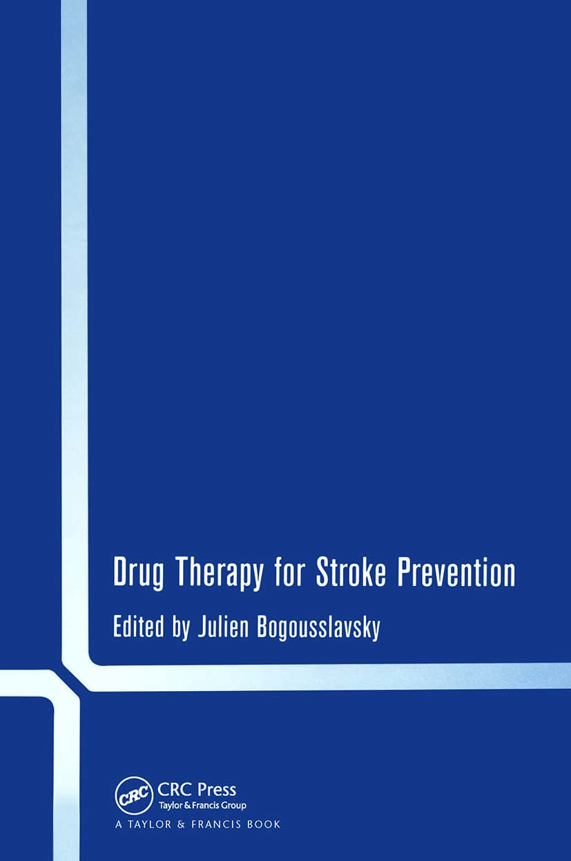 Drug Therapy for Stroke Prevention: 1st Edition (Hardback) book cover