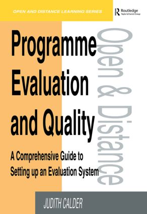 Programme Evaluation and Quality: A Comprehensive Guide to Setting Up an Evaluation System, 1st Edition (Paperback) book cover