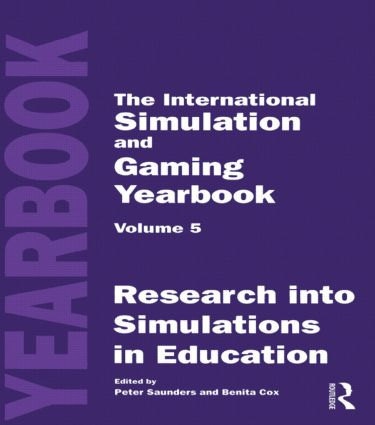 International Simulation and Gaming Yearbook: 1st Edition (Hardback) book cover