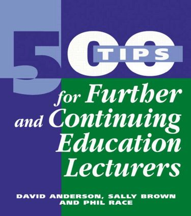 500 Tips for Further and Continuing Education Lecturers (Paperback) book cover