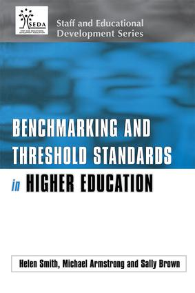 Benchmarking and Threshold Standards in Higher Education (Paperback) book cover