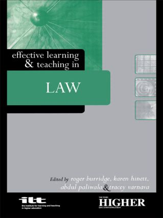 Effective Learning and Teaching in Law (Paperback) book cover