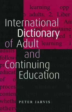 An International Dictionary of Adult and Continuing Education: 2nd Edition (Paperback) book cover