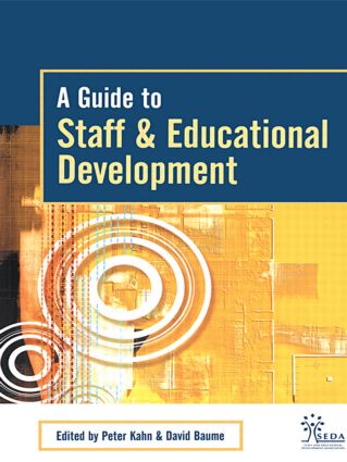 A Guide to Staff & Educational Development: 1st Edition (Paperback) book cover