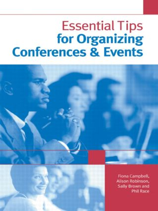 Essential Tips for Organizing Conferences & Events (Paperback) book cover