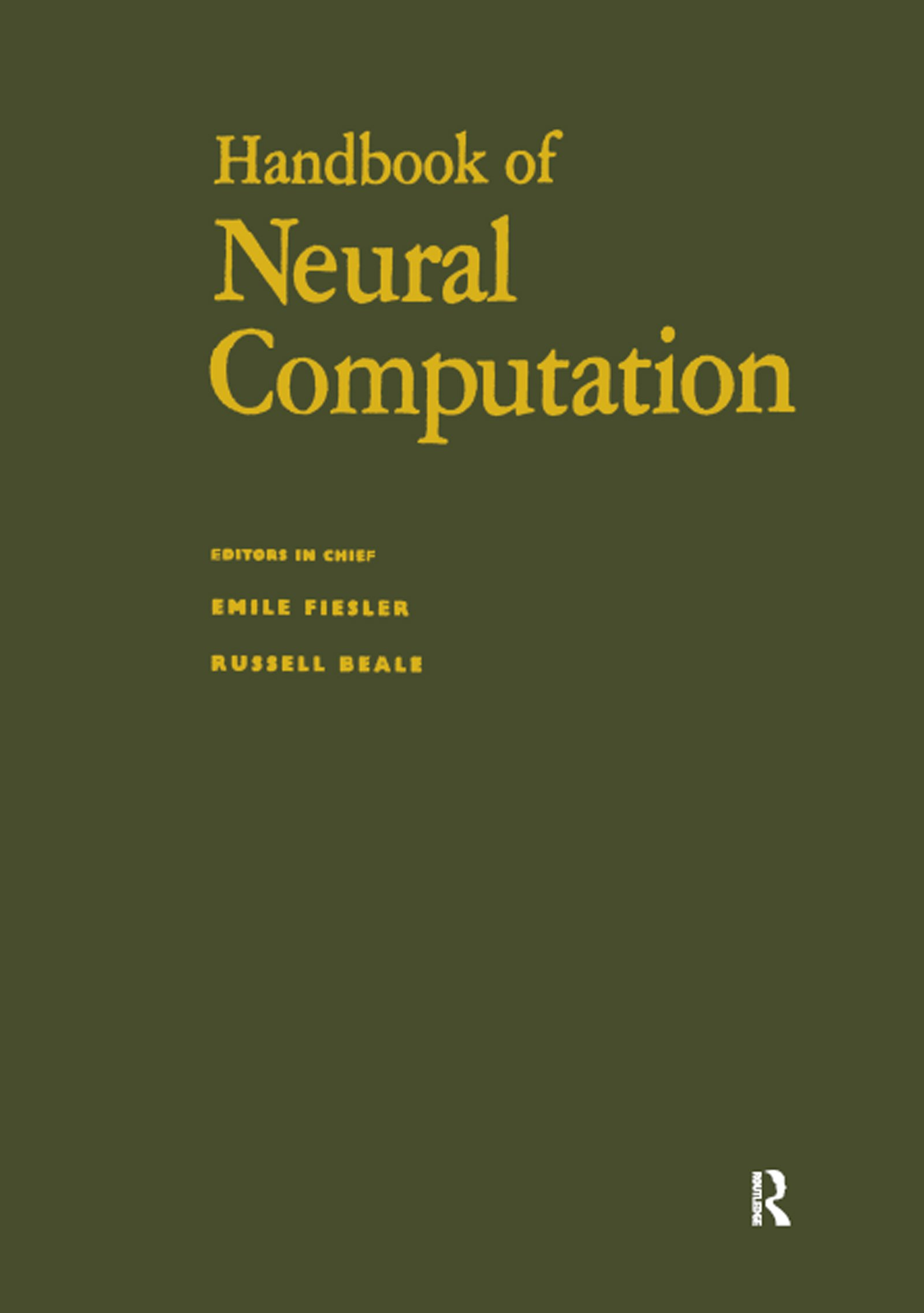 Handbook of Neural Computation: 1st Edition (Hardback) book cover