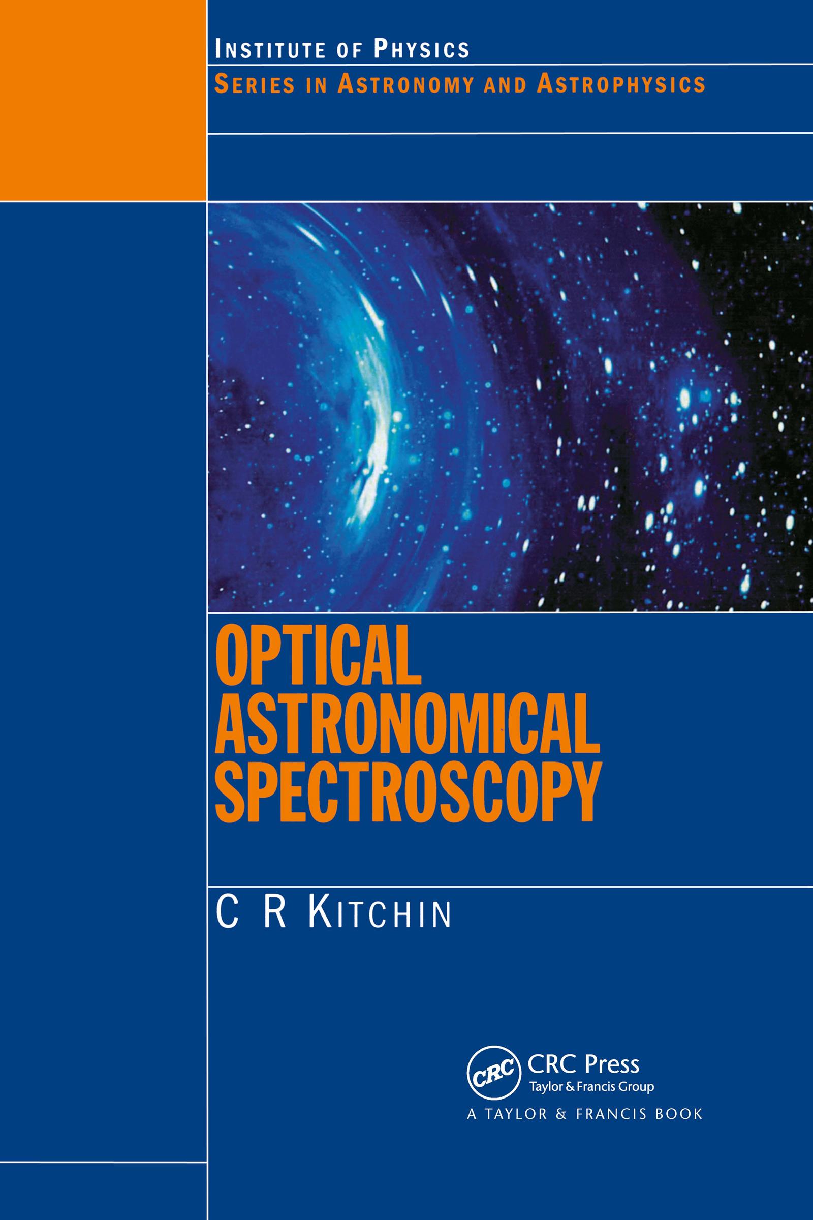 Optical Astronomical Spectroscopy book cover