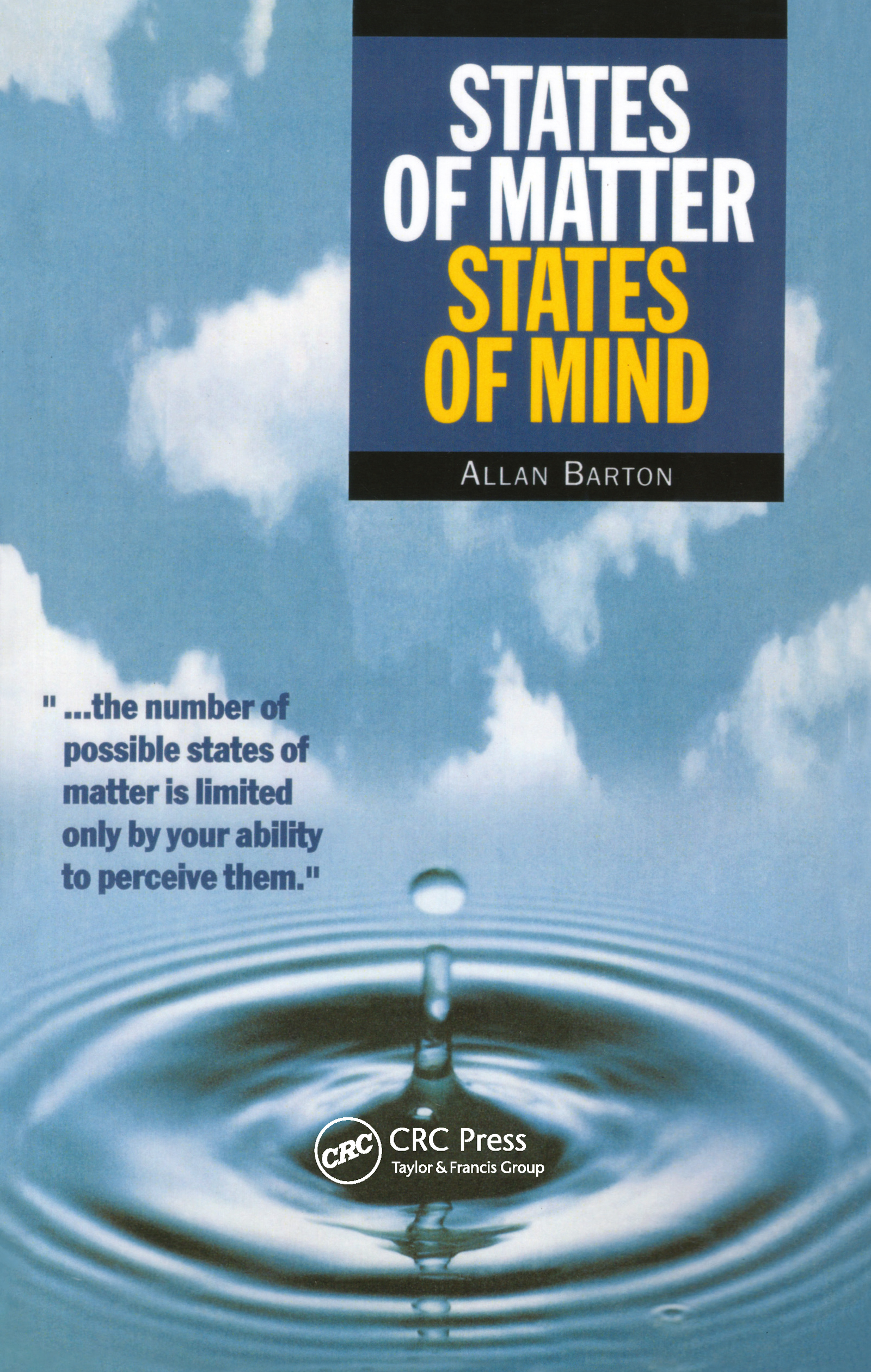 States of Matter, States of Mind: 1st Edition (Paperback) book cover