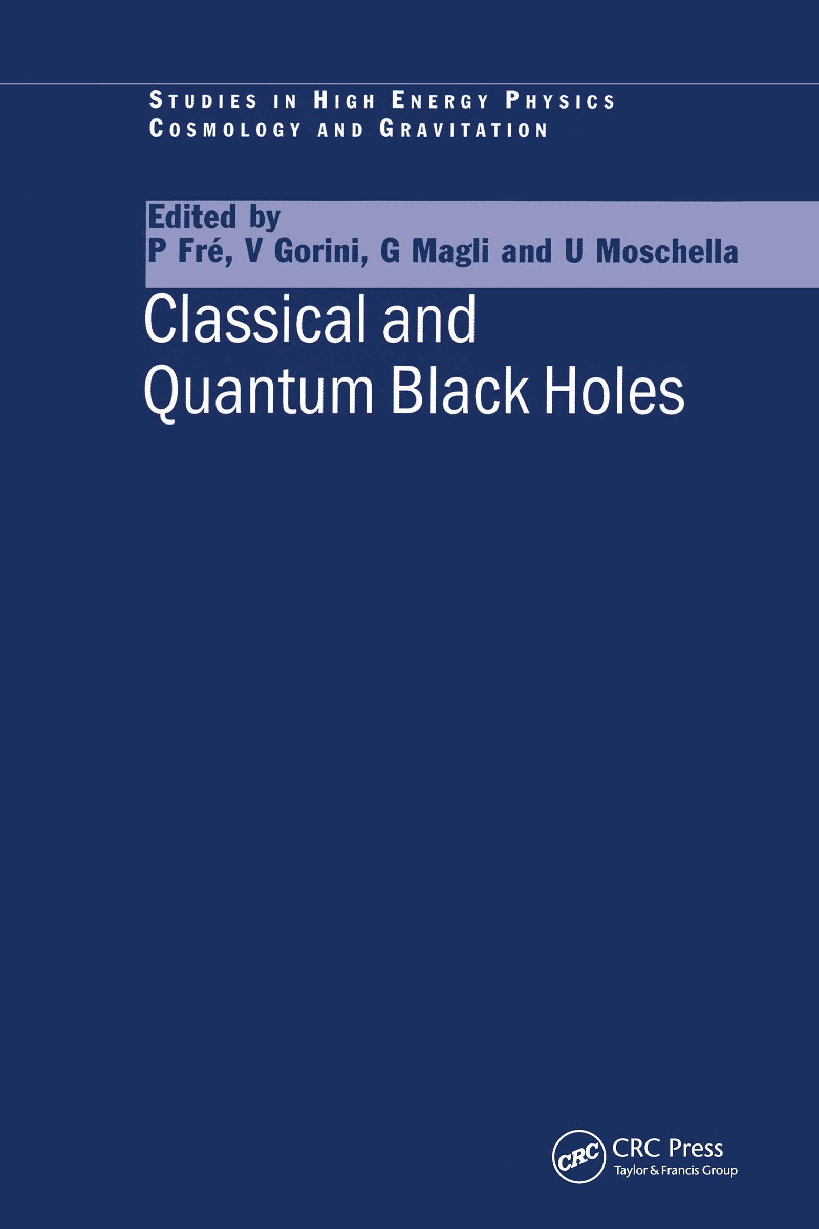 Classical and Quantum Black Holes book cover