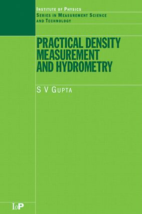 Practical Density Measurement and Hydrometry: 1st Edition (Hardback) book cover