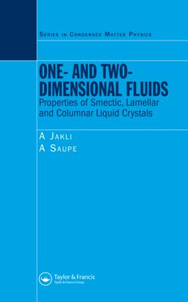 One- and Two-Dimensional Fluids: Properties of Smectic, Lamellar and Columnar Liquid Crystals, 1st Edition (Hardback) book cover