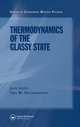 Thermodynamics of the Glassy State: 1st Edition (Hardback) book cover