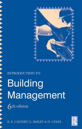 Introduction to Building Management: 6th Edition (Paperback) book cover