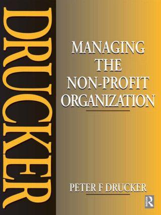 Managing the Non-Profit Organization