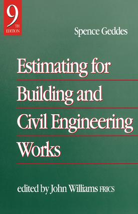 Estimating for Building & Civil Engineering Work: 9th Edition (Hardback) book cover