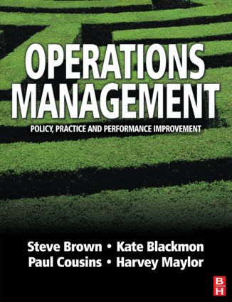Operations Management: 1st Edition (Paperback) book cover