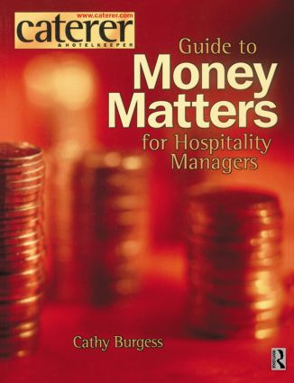 Money Matters for Hospitality Managers: 1st Edition (Paperback) book cover