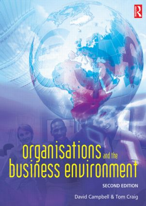 Organisations and the Business Environment: 2nd Edition (Paperback) book cover