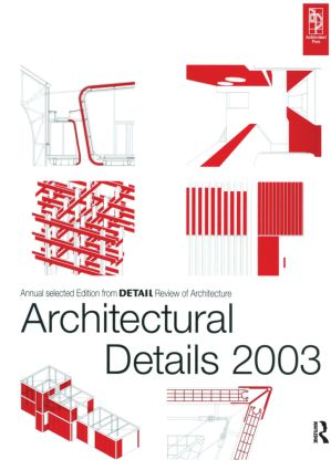 Architectural Details 2003 (Paperback) book cover