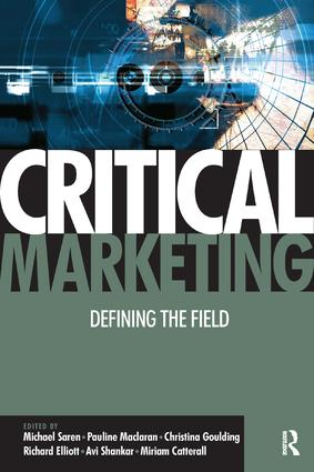 Critical Marketing (Paperback) book cover
