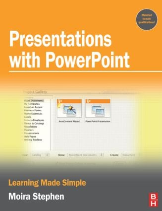 Presentations with PowerPoint: 1st Edition (Paperback) book cover