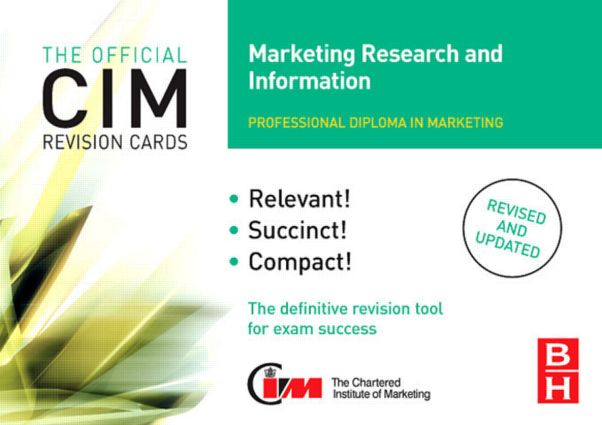 CIM Revision Cards Marketing Research and Information: 2nd Edition (Hardback) book cover