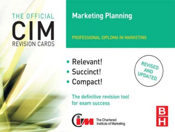 CIM Revision Cards Marketing Planning: 2nd Edition (Hardback) book cover