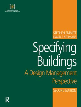 Specifying Buildings: 2nd Edition (Paperback) book cover