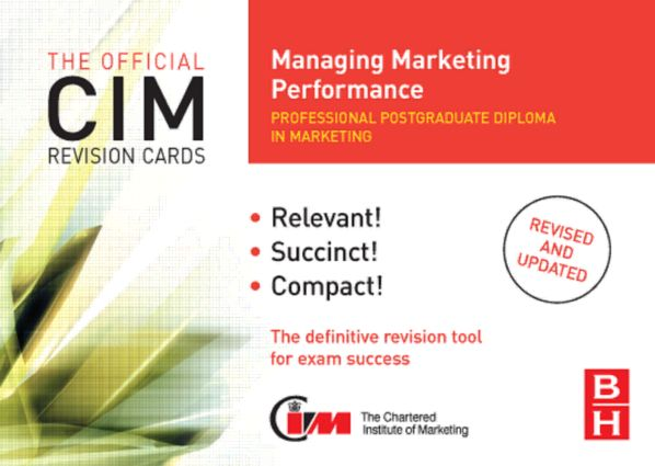 CIM Revision Cards Managing Marketing Performance: 2nd Edition (Hardback) book cover