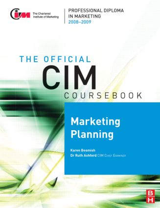 CIM Coursebook 08/09 Marketing Planning: 1st Edition (Paperback) book cover