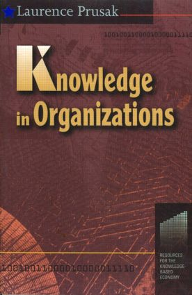 Knowledge in Organisations: 1st Edition (Paperback) book cover
