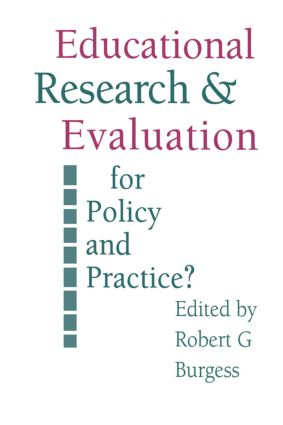 Education Research and Evaluation: For Policy and Practice? (Paperback) book cover