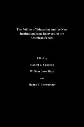 Institutional theory and the social structure of education