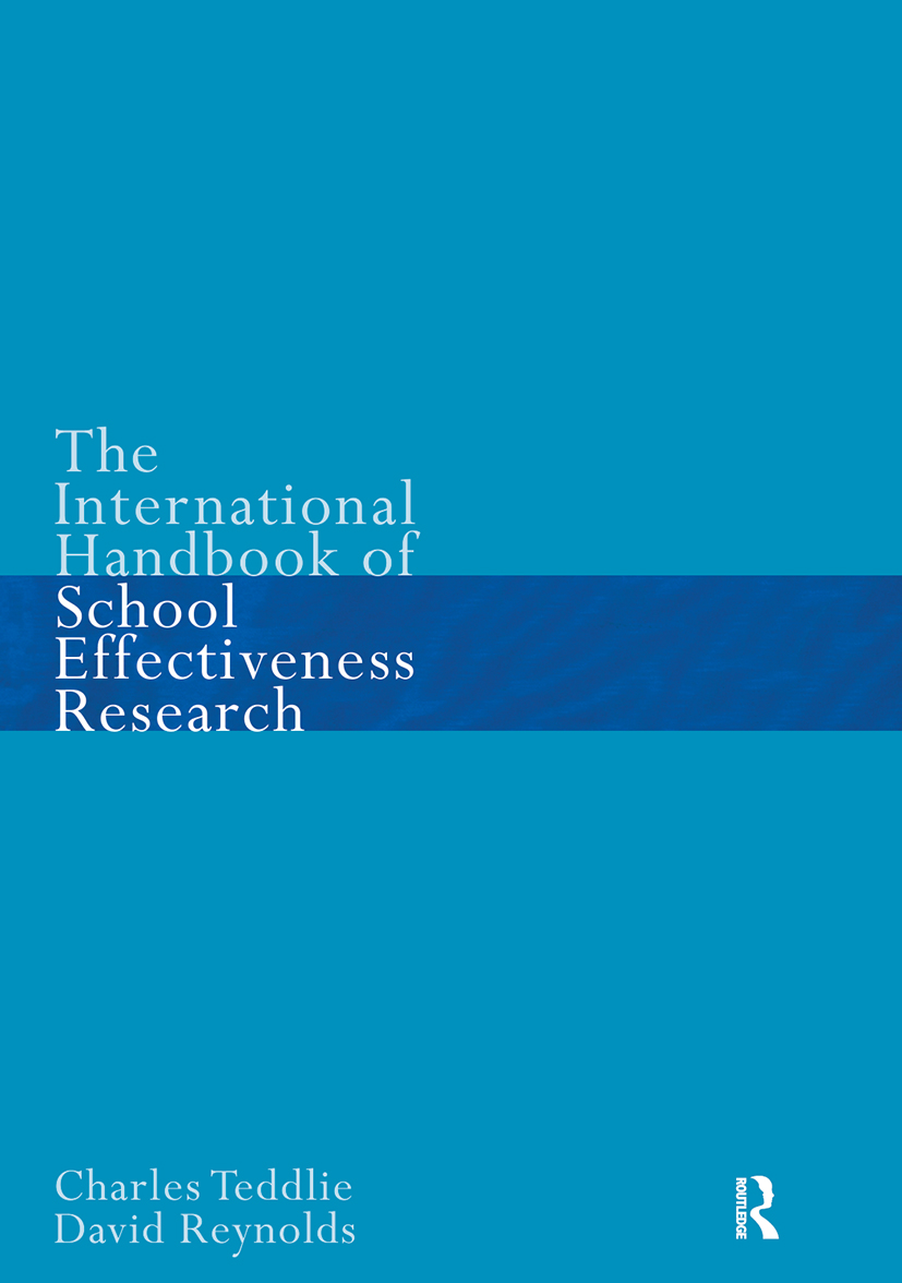 The International Handbook of School Effectiveness Research (Paperback) book cover