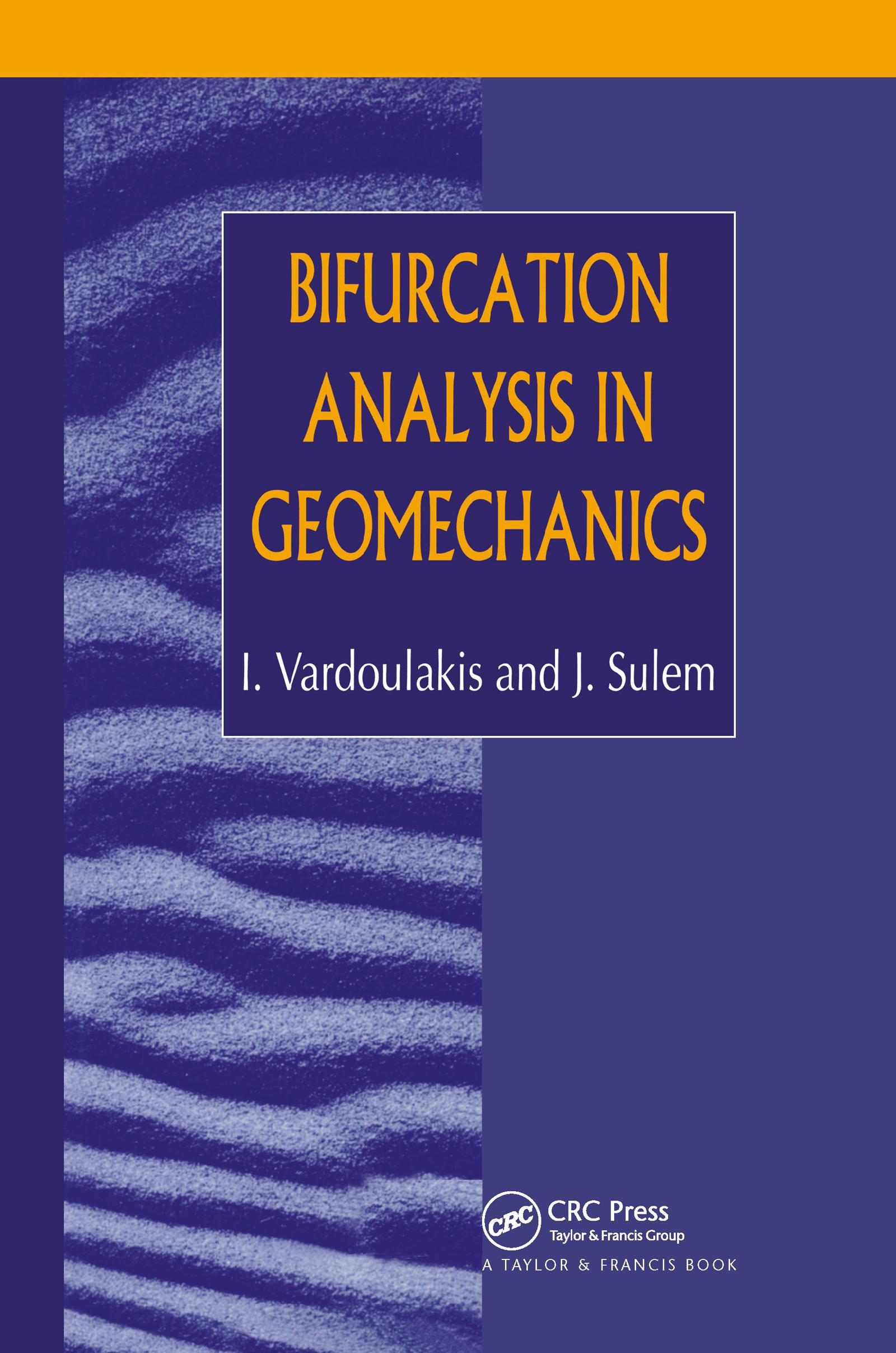 Bifurcation Analysis in Geomechanics: 1st Edition (Hardback) book cover