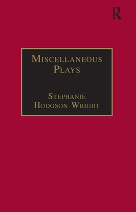 Miscellaneous Plays: Printed Writings 1641–1700: Series II, Part One, Volume 7 book cover