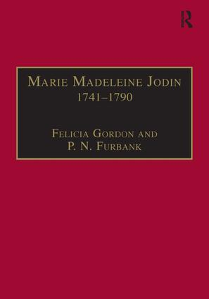 Marie Madeleine Jodin 1741–1790: Actress, Philosophe and Feminist, 1st Edition (Hardback) book cover