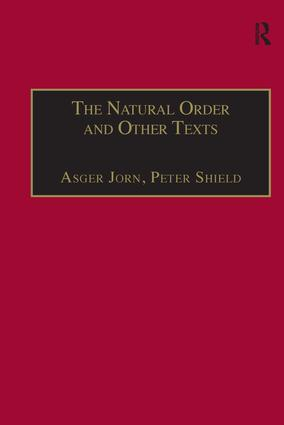The Natural Order and Other Texts: 1st Edition (Hardback) book cover