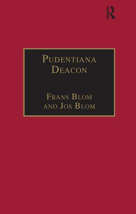 Pudentiana Deacon: Printed Writings 1500–1640: Series I, Part Three, Volume 4, 1st Edition (Hardback) book cover