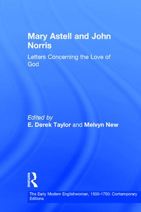 Mary Astell and John Norris: Letters Concerning the Love of God book cover