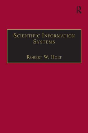 Scientific Information Systems: 1st Edition (Hardback) book cover