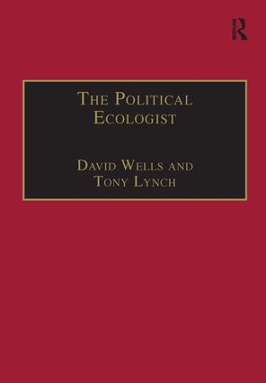 The Political Ecologist: 1st Edition (Hardback) book cover