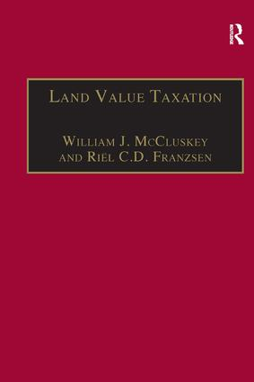 Land Value Taxation: An Applied Analysis, 1st Edition (Hardback) book cover