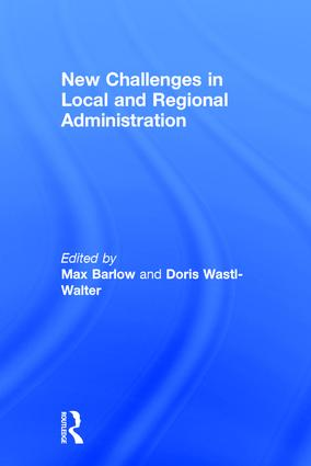 New Challenges in Local and Regional Administration: 1st Edition (Hardback) book cover