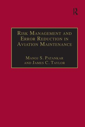 Risk Management and Error Reduction in Aviation Maintenance: 1st Edition (Hardback) book cover