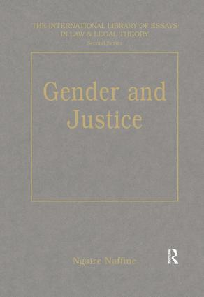 Gender and Justice: 1st Edition (Hardback) book cover