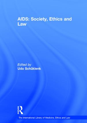 AIDS: Society, Ethics and Law book cover