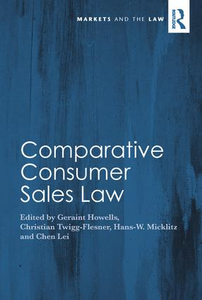 Comparative Consumer Sales Law: 1st Edition (Hardback) book cover