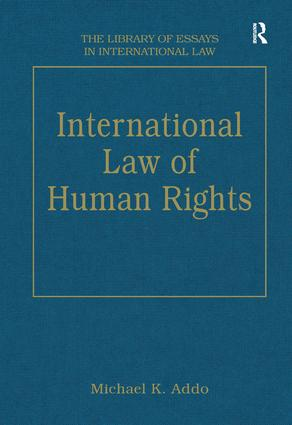 International Law of Human Rights: 1st Edition (Hardback) book cover
