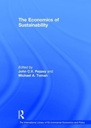 The Economics of Sustainability book cover